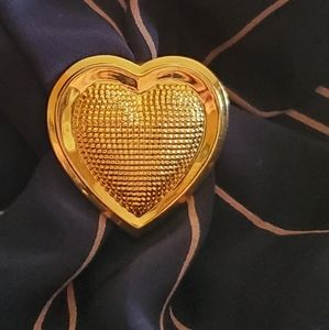 Scarf Clip Gold Heart